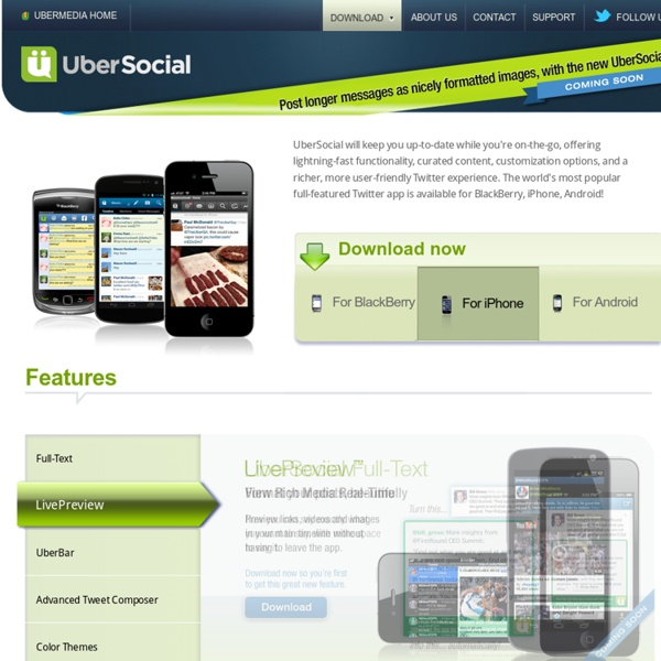 UberSocial—The world's most popular full-featured Twitter app