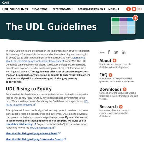 UDL: Universal Design for Learning