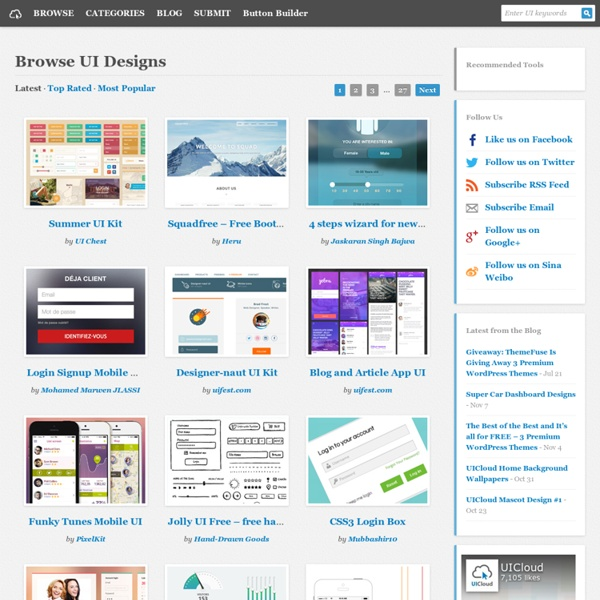 Browse User Interface Designs