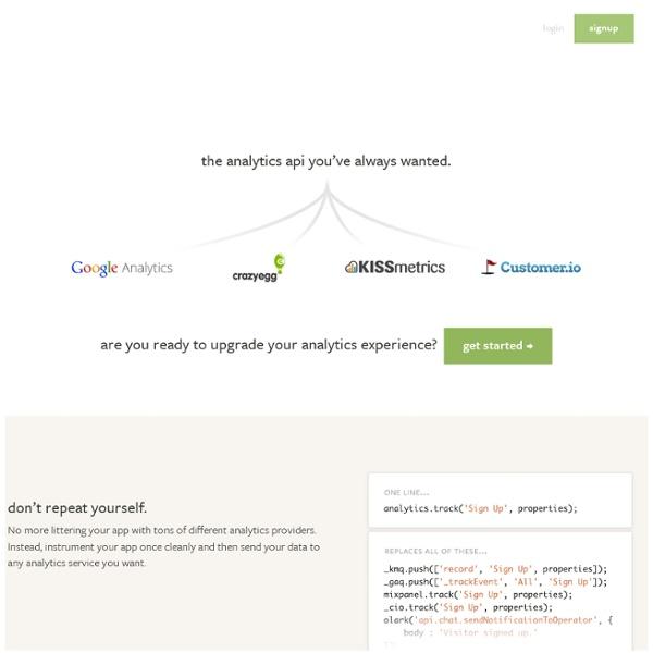 Segment.io - The ultimate analytics platform