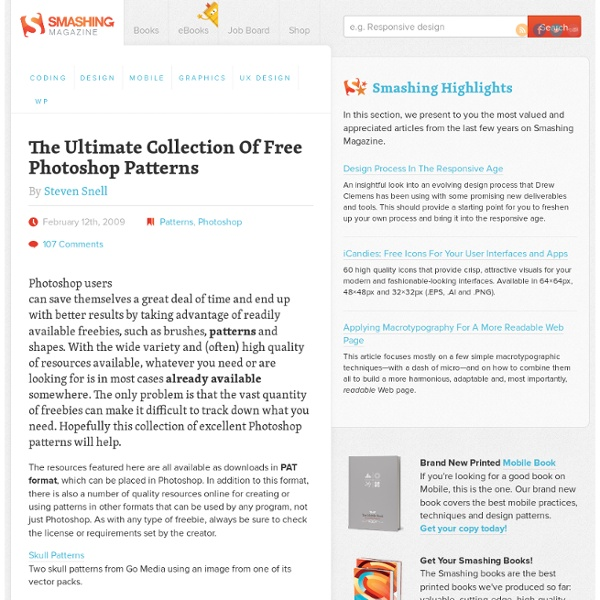 The Ultimate Collection Of Free Photoshop Patterns - Smashing Magazine
