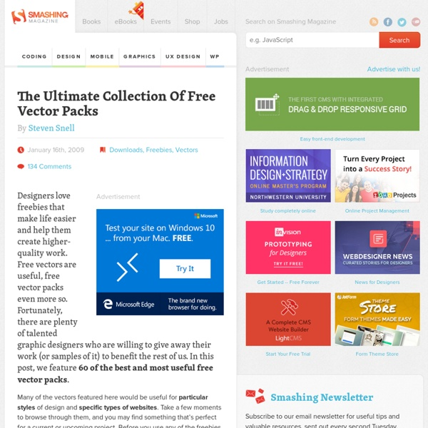 The Ultimate Collection Of Free Vector Packs