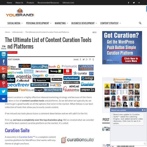 The Ultimate List of Content Curation Tools and Platforms