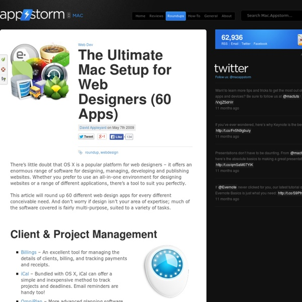 The Ultimate Mac Setup for Web Designers (60 Apps) « Mac.AppStorm