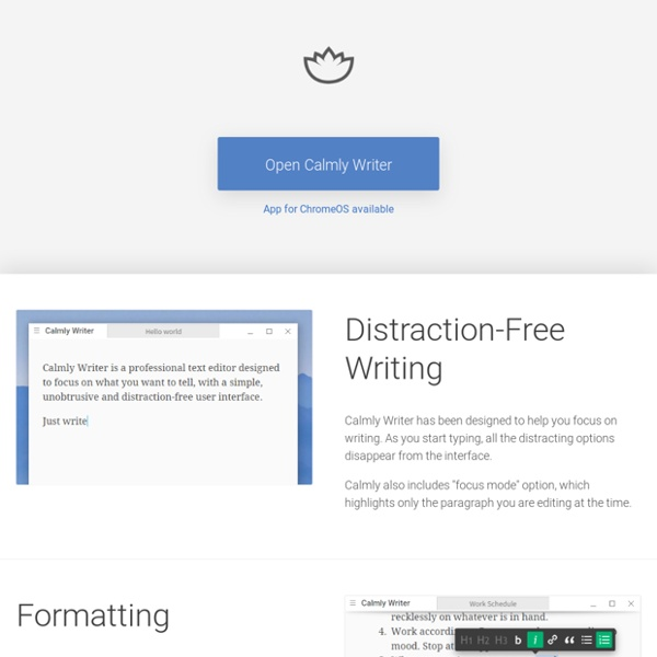 Calmly Writer: The Ultimate Distraction-Free Writing Tool