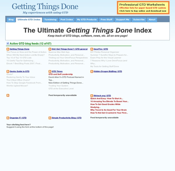 The Ultimate Getting Things Done Index