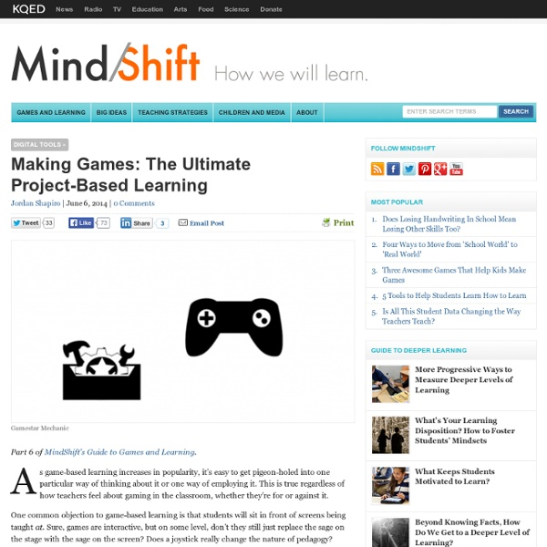 Making Games: The Ultimate Project-Based Learning
