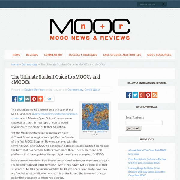 The Ultimate Student Guide to xMOOCs and cMOOCs