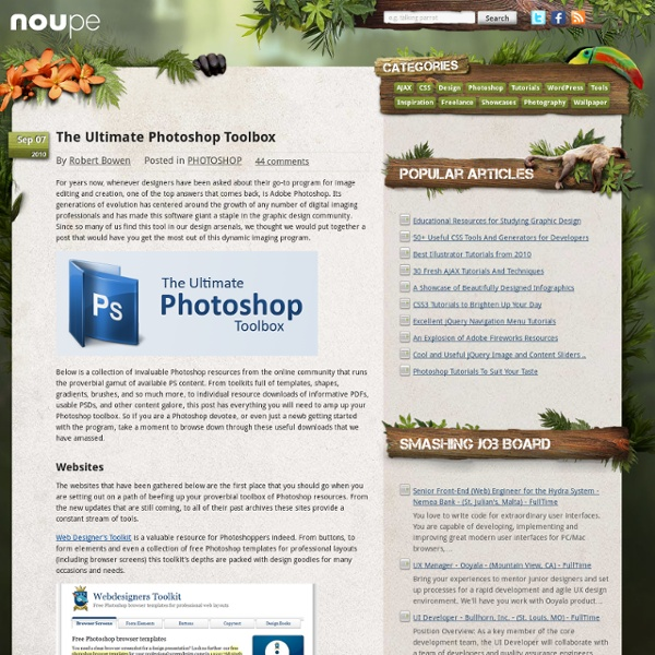 The Ultimate Photoshop Toolbox - Noupe Design Blog