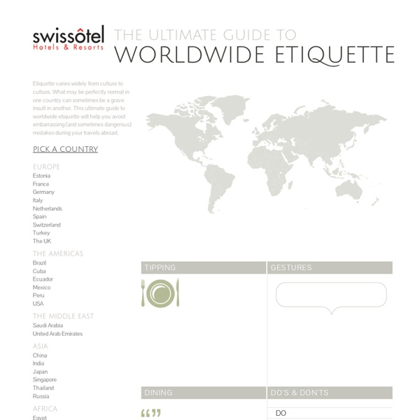 The Ultimate Guide to Worldwide Etiquette
