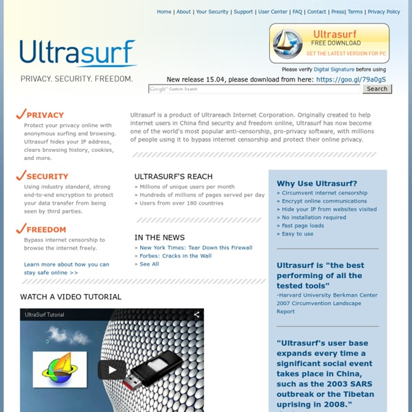 Ultrasurf - Free Proxy-Based Internet Privacy and Security Tools