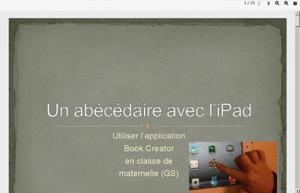 Un abécédaire avec l'iPad