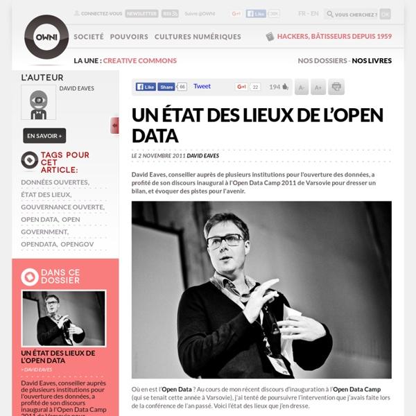 Un état des lieux de l'Open Data
