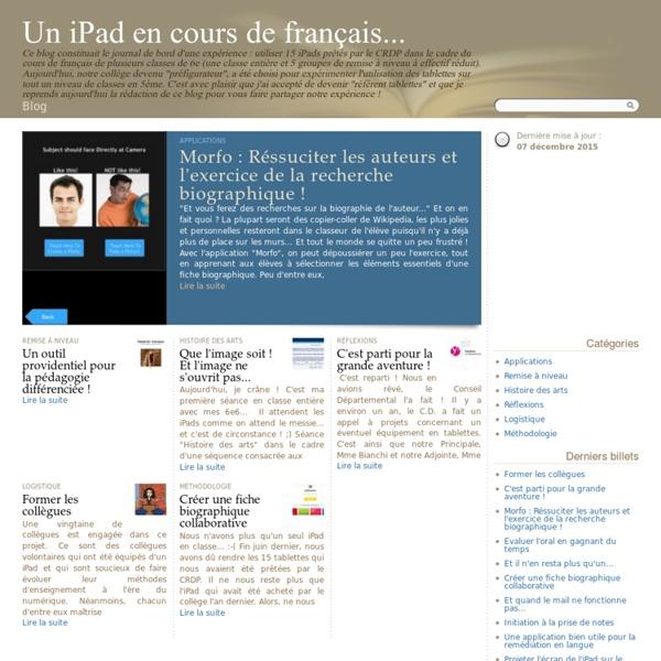 Un iPad en cours de français...