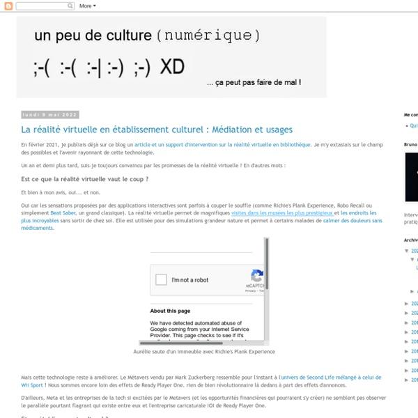 Un peu de culture (numérique)