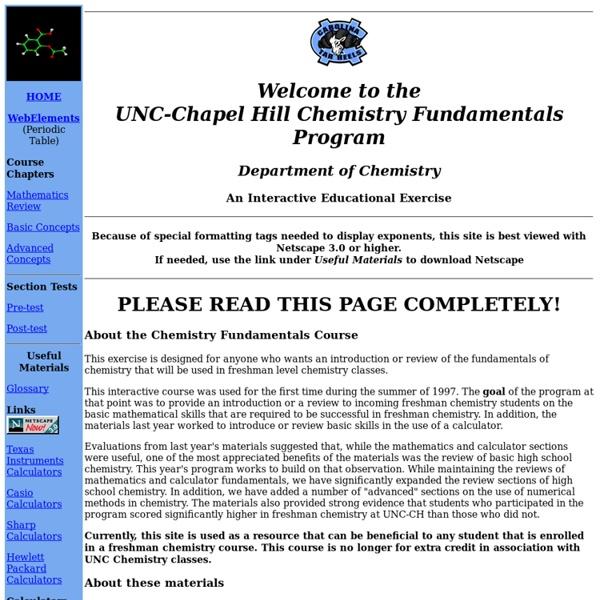 UNC Chemistry Fundamentals