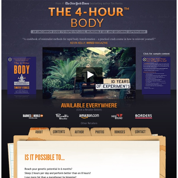 The 4-Hour Body by Tim Ferriss - Official Site