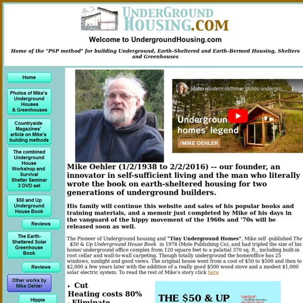 $50 And Up Underground House – Underground Housing & Shelter