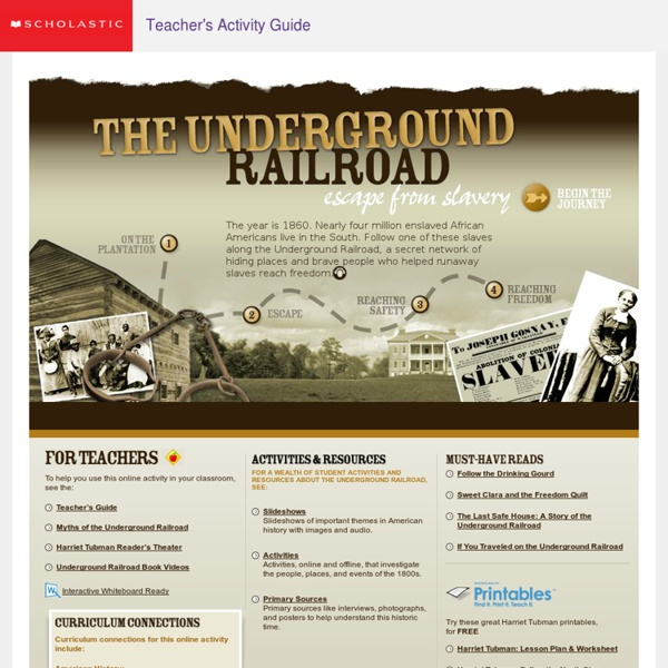 The Underground Railroad: Escape From Slavery Student Activity