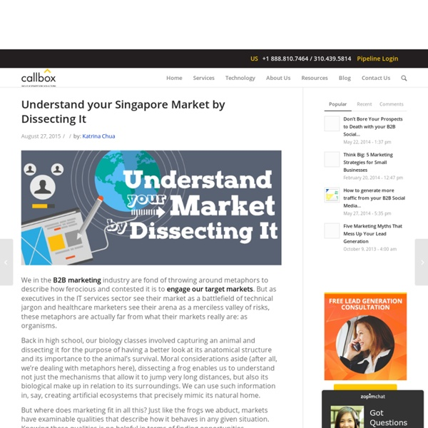 Understand your Singapore Market by Dissecting It
