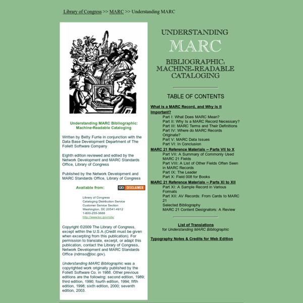 Understanding MARC Bibliographic: Machine-Readable Cataloging