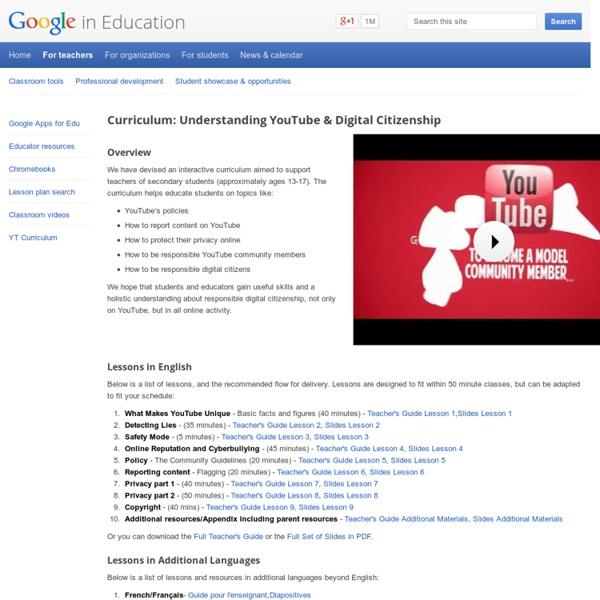 Curriculum: Understanding YouTube & Digital Citizenship – Google in Education