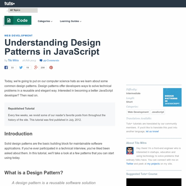 Understanding Design Patterns in JavaScript