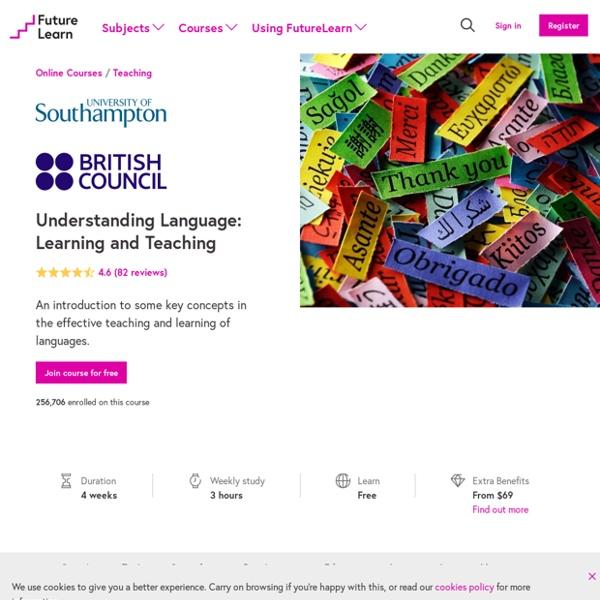 Understanding Language - University of Southampton