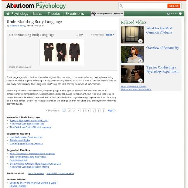 Understanding Body Language - Reading Body Language