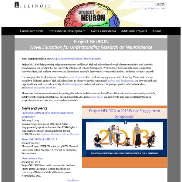 Project NEURON Novel Education for Understanding Research on Neuroscience