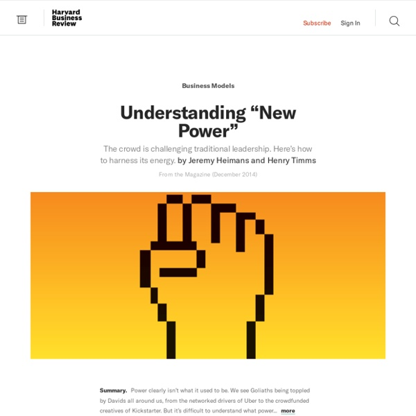 """Understanding """"New Power"""""""