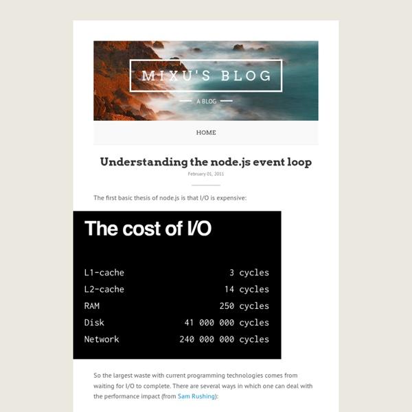 Understanding the node.js event loop