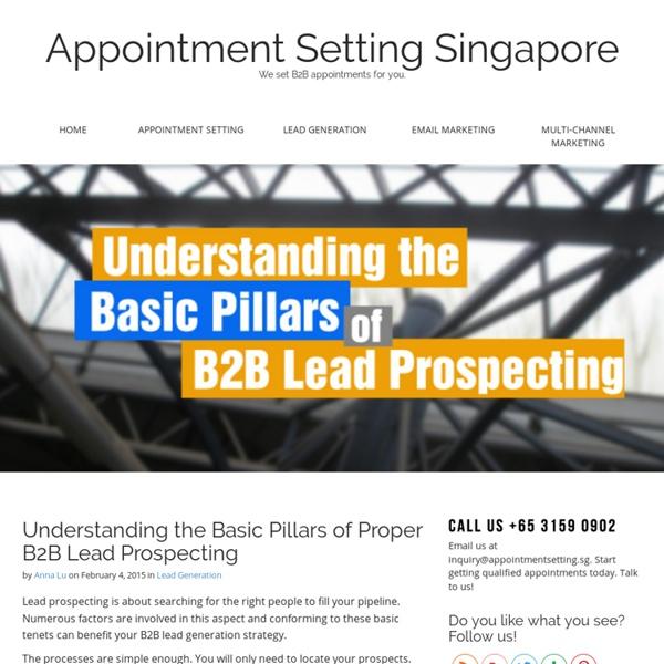 Understanding the Basic Pillars of Proper B2B Lead Prospecting