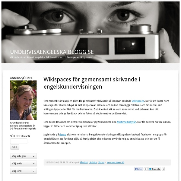 Undervisaengelska.blogg.se -