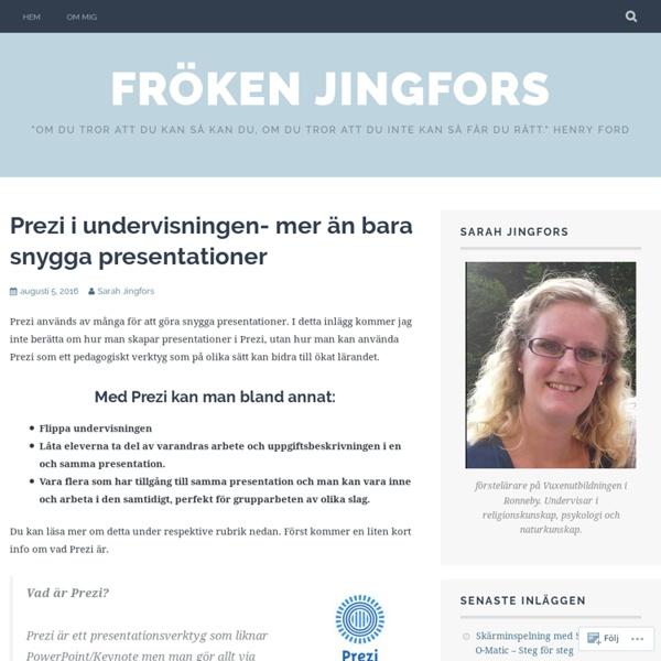 Prezi i undervisningen- mer än bara snygga presentationer – Fröken Jingfors