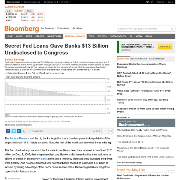 Secret Fed Loans Gave Banks Undisclosed $13B