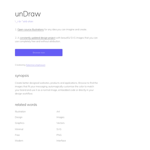 UnDraw - Open source illustrations for any idea