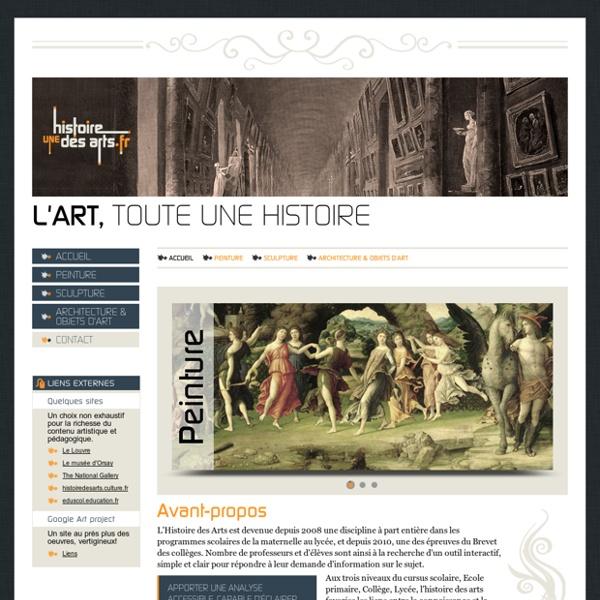 Histoire des arts, hda, sculpture, peinture, architecture, objets d'art