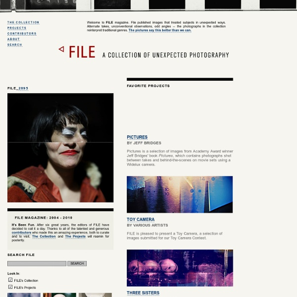 FILE Magazine - Unexpected Photography.