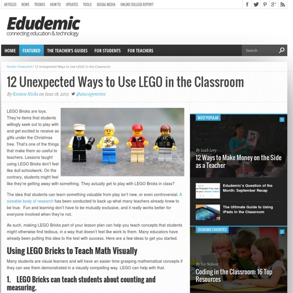 12 Unexpected Ways to Use LEGO in the Classroom