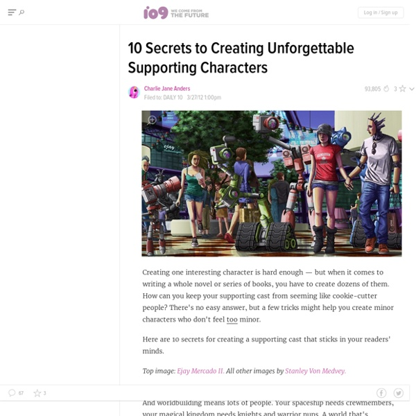 10 Secrets to Creating Unforgettable Supporting Characters