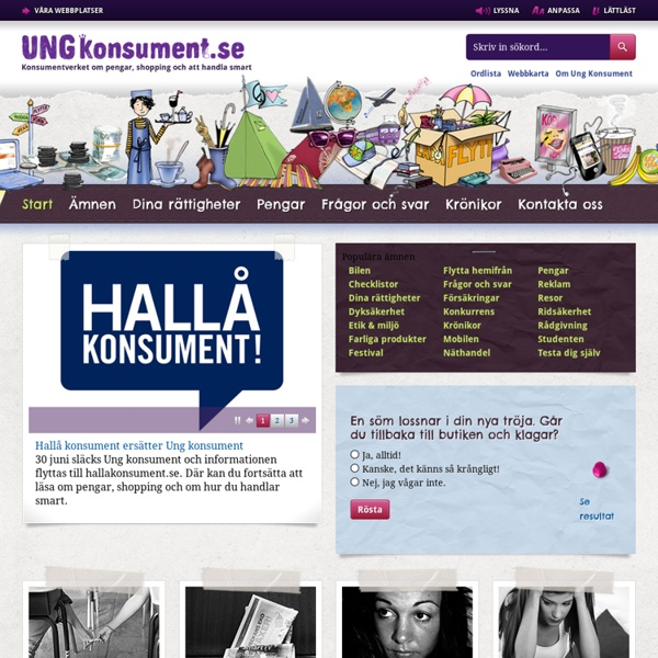 Ung konsument - Startsida - Ung Konsument