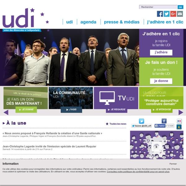UDI Le site officiel de l'Union des Démocrates et Indépendants