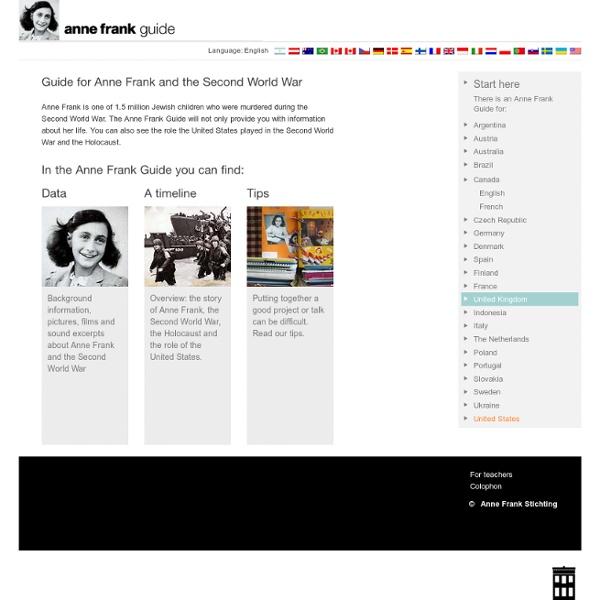 Anne Frank, Graine de Mémoire – Site interactif pour étudiants