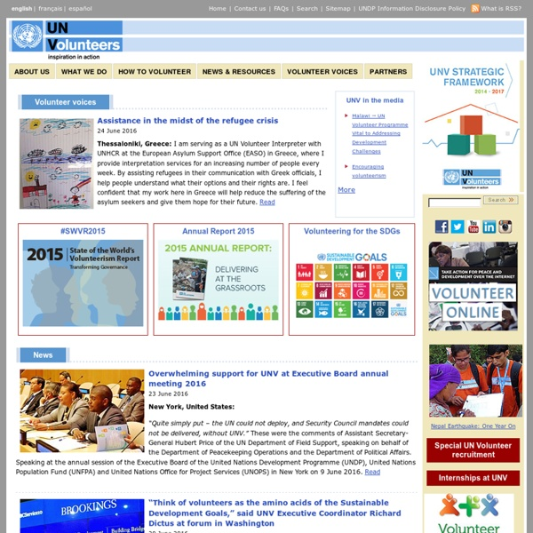 United Nations Volunteers: Home