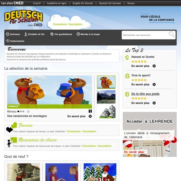 SITE CNED : Kinder - l'univers dédié aux enfants - Deutsch für Schulen