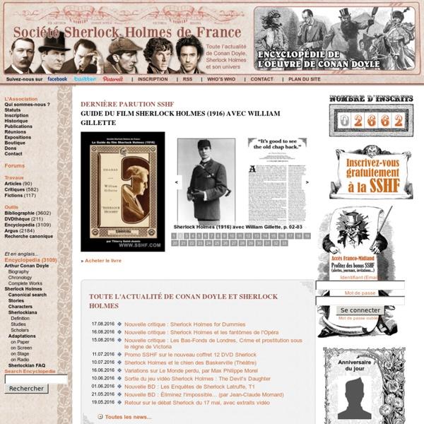 Tout l'univers de Sherlock Holmes et Conan Doyle - Société Sherlock Holmes de France (SSHF)