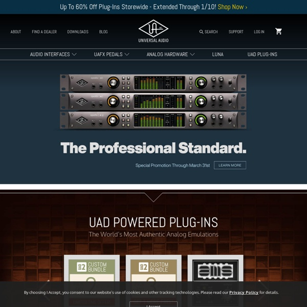 Universal Audio - Analog and Digital Audio Products and Plug-Ins