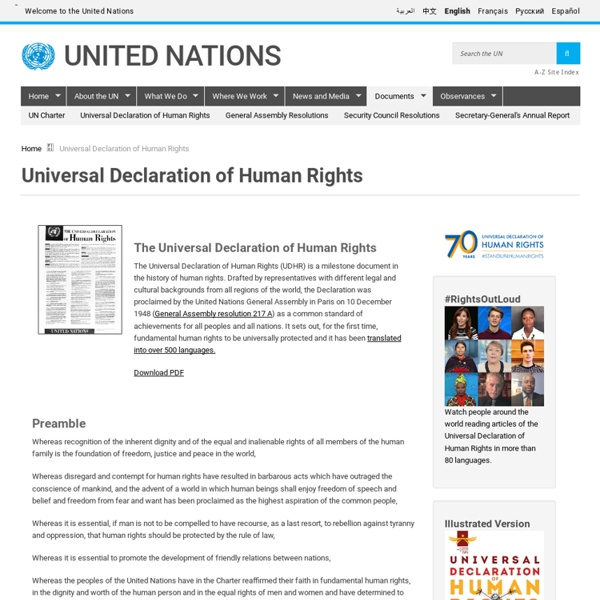Iversal Declaration of Human Rights