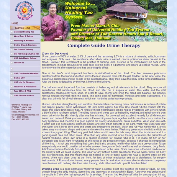 Universal Healing Tao Center Complete Guide Urine Therapy